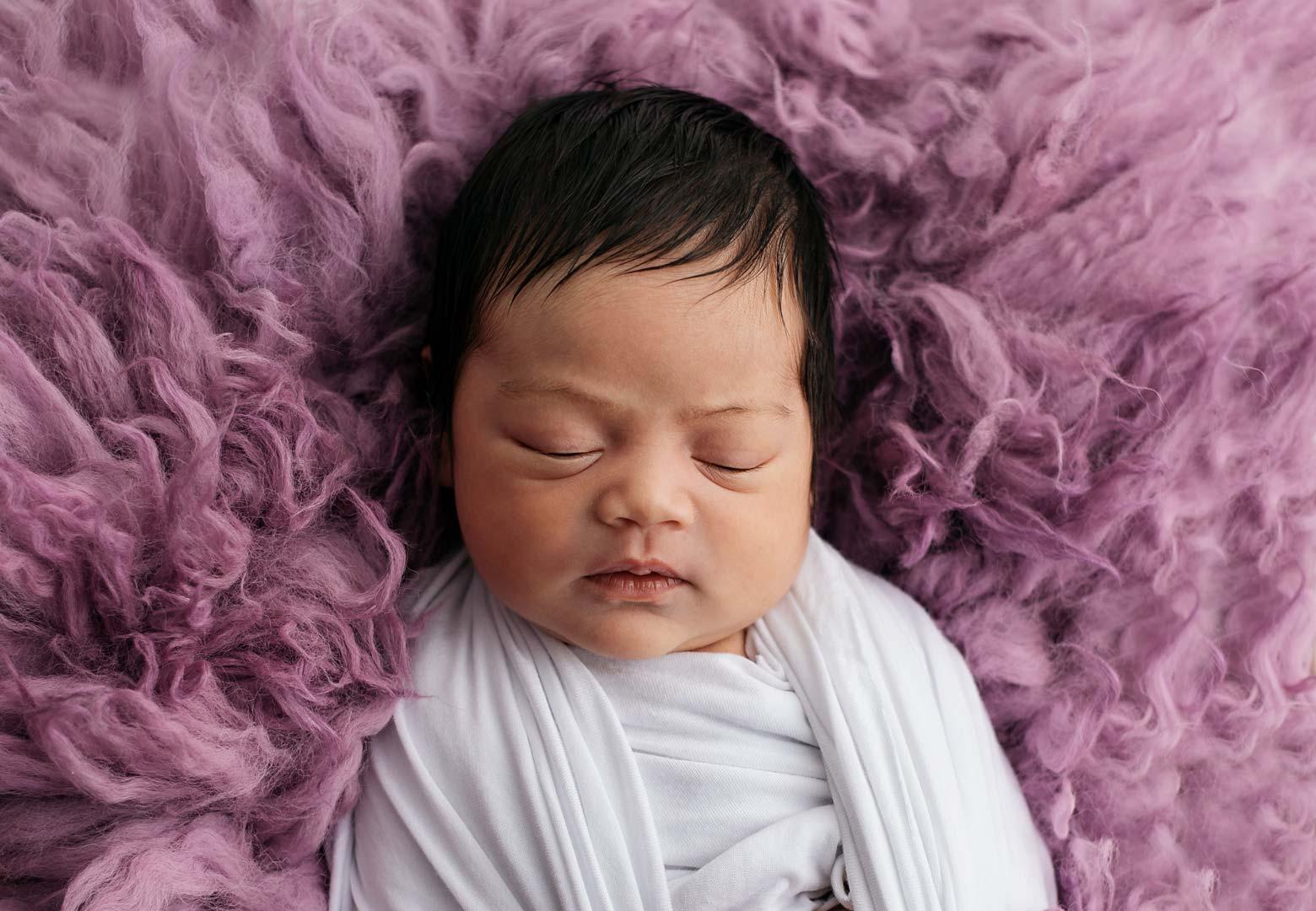 Newborn Girl - Purple