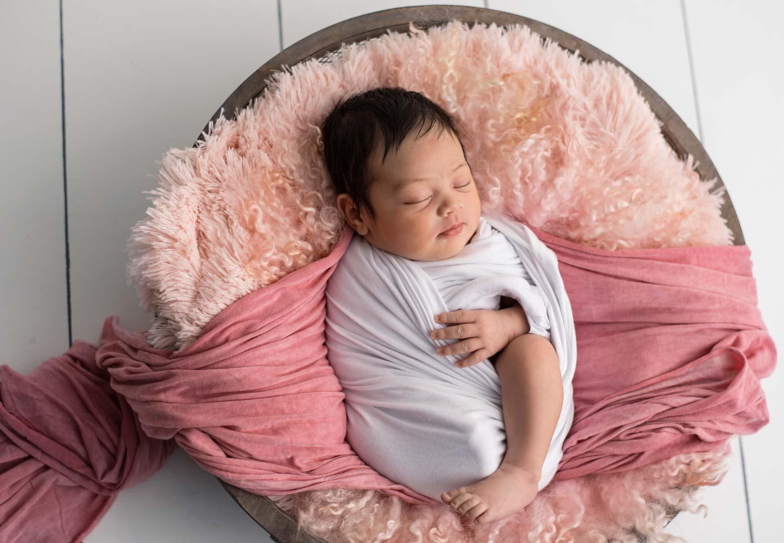 Newborn Girl - Pink Bowl