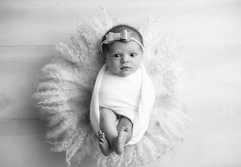 Newborn Black and White Prop Photo
