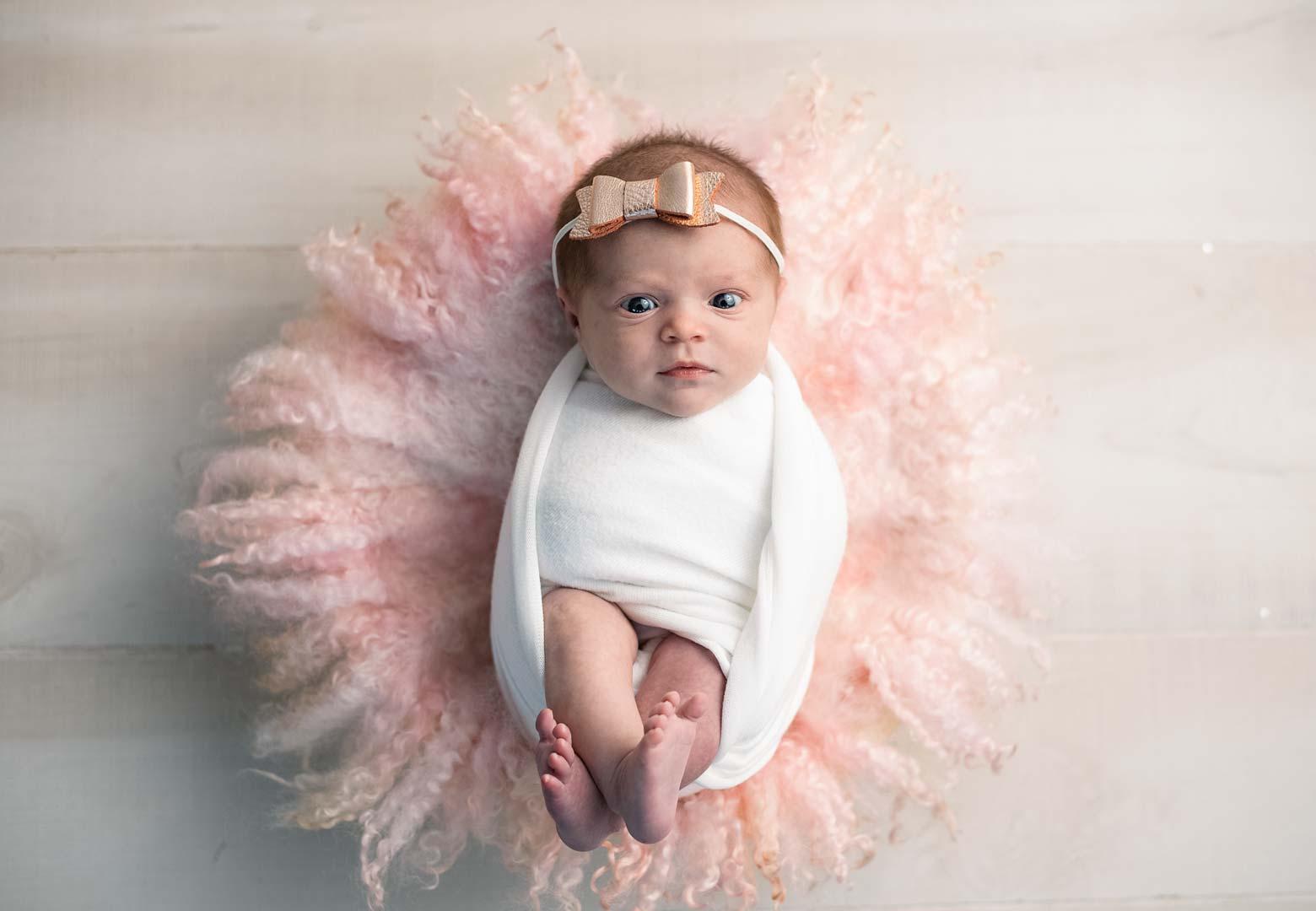 Newborn Baby Girl awake