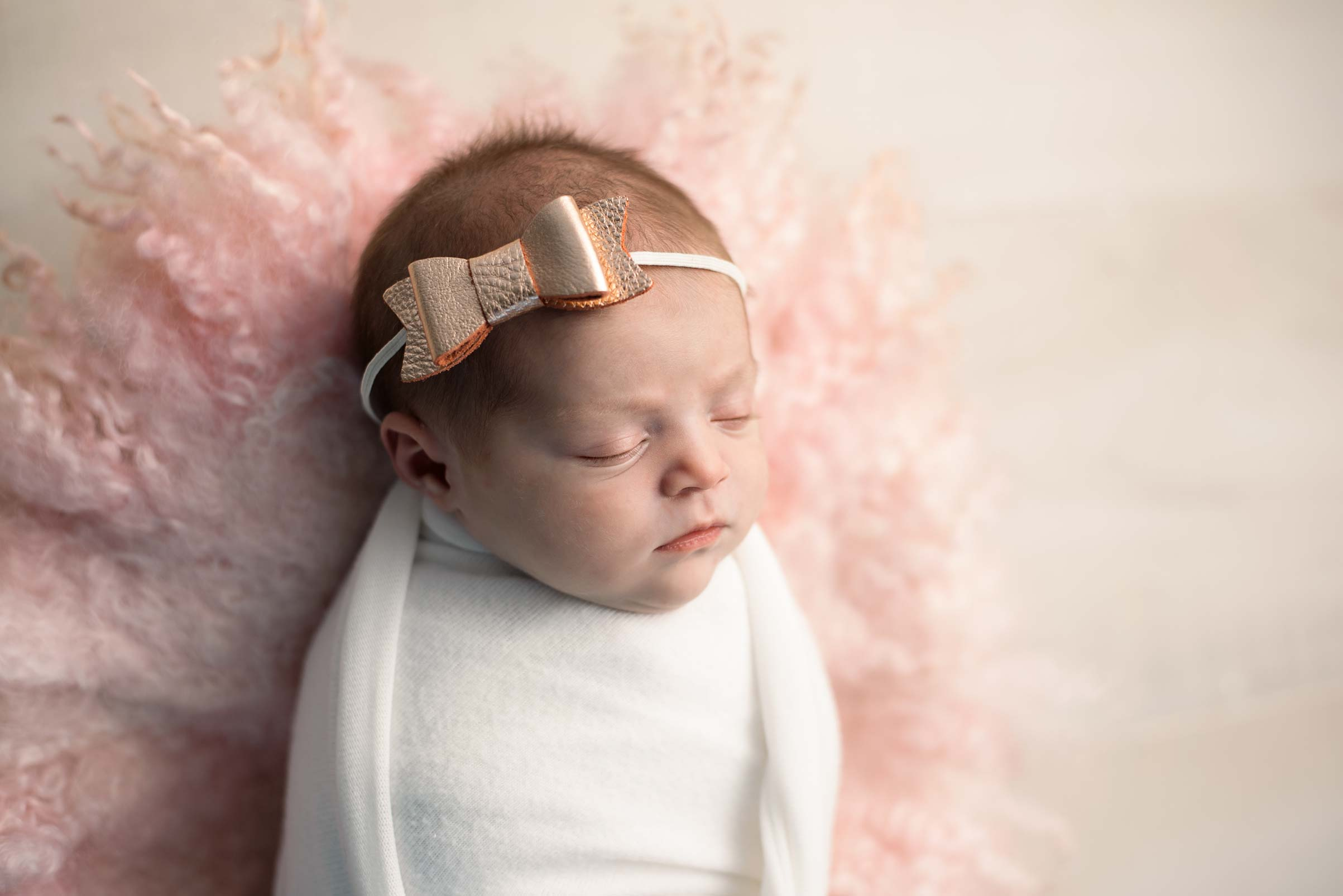 Newborn Girl with bow