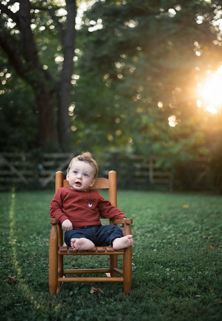 Baby Portrait on Chair