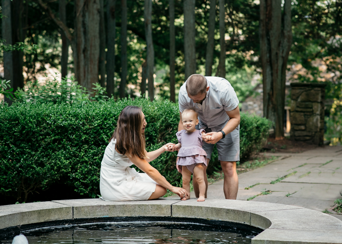 Family by Fountain